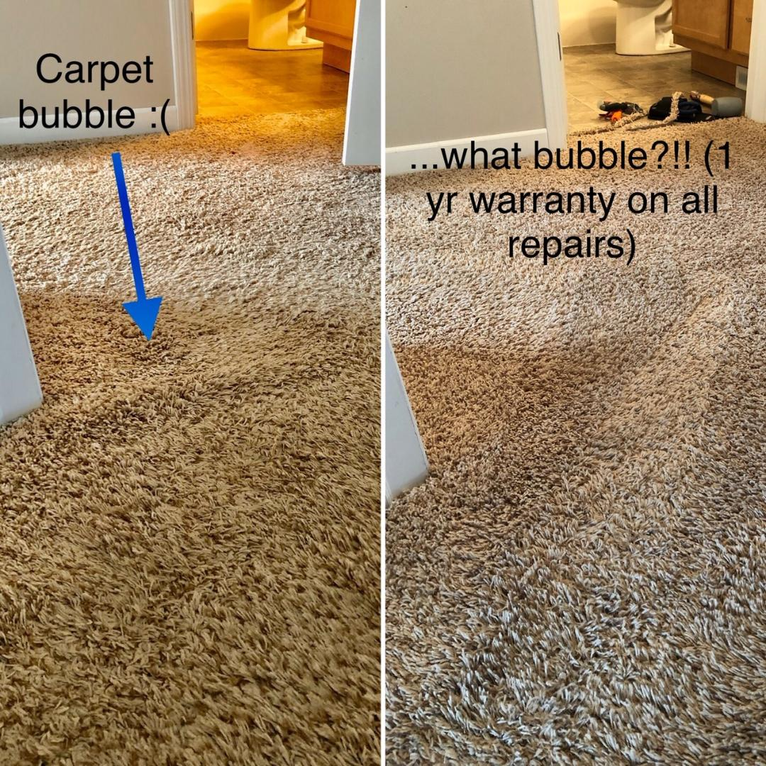 removing carpet bubble