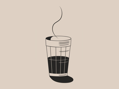 Café no copo americano