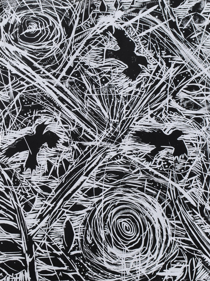 Crows and Stars (Detail)