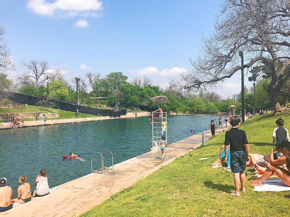 Barton Springs Pool I 33 Unique Things to do in Austin, Texas I www.NicoleRiccardo.com