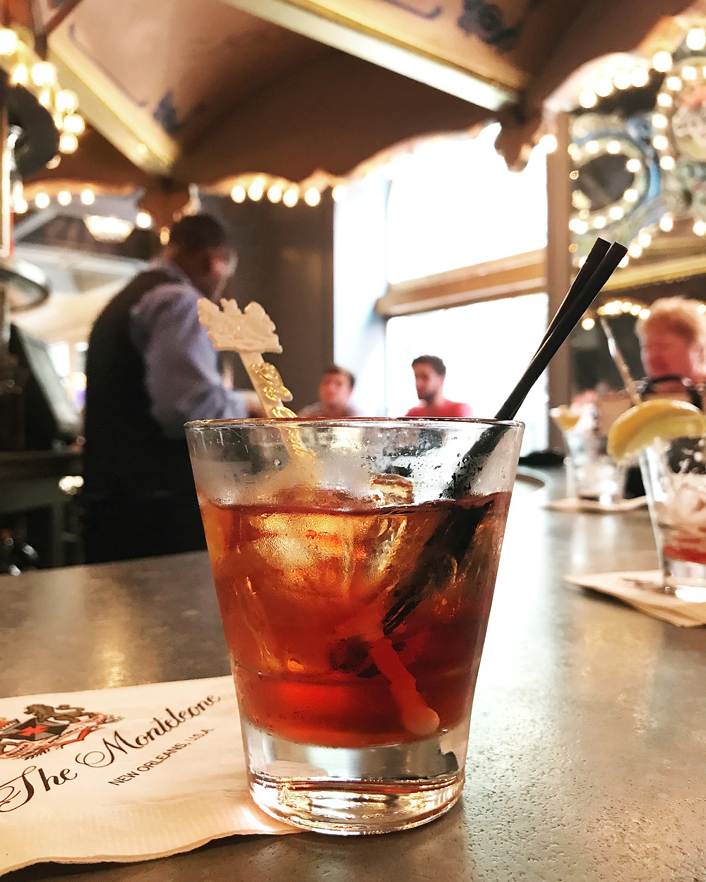 Vieux Carre at The Carousel Bar in Hotel Monteleone I New Orleans Travel Guide I Nicole Riccardo