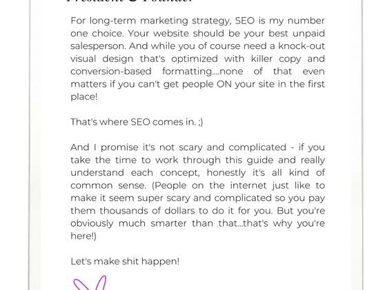 SEO ON WIX - GUIDE AND WORKBOOK