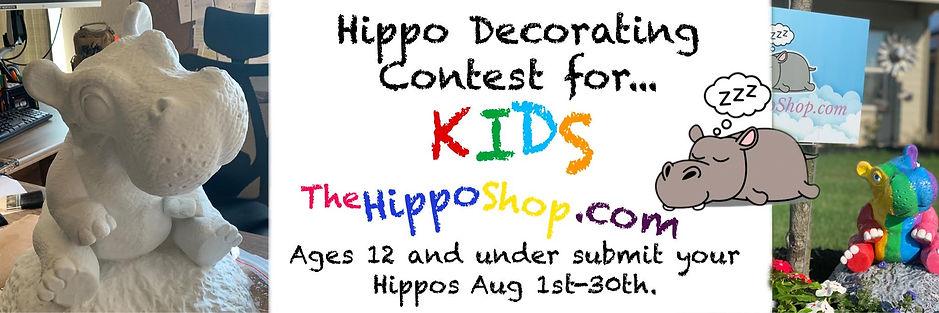 kids hippo decorating contest