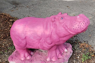 pink hippo in hutto