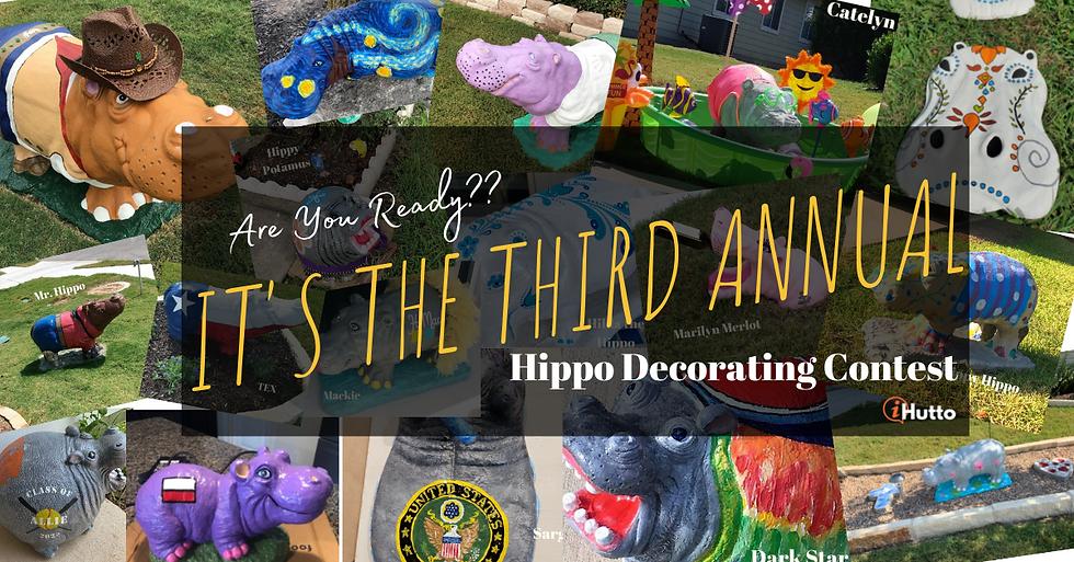 hutto hippo decorating contest in hutto texas hutto hippos painted hippos buy concrete hippos in hutto
