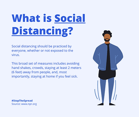 Social Distancing, Isolation and Quarant