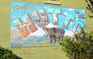 hutto wall mural in downtown hutto