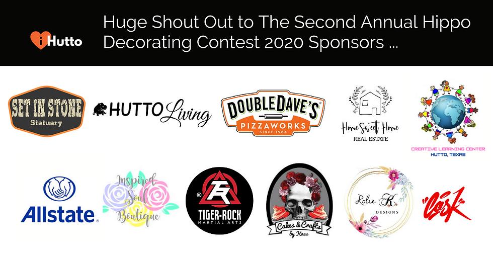 Hippo Decorating Contest Sponsors 2020