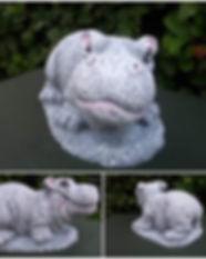 concrete hippos in hutto