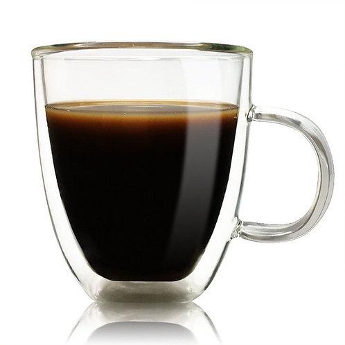 COCO 350ml - Insulated Double Wall Glass Coffee Mug
