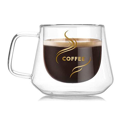 EDGED 210ml - Insulated Double Wall Glass Coffee Mug