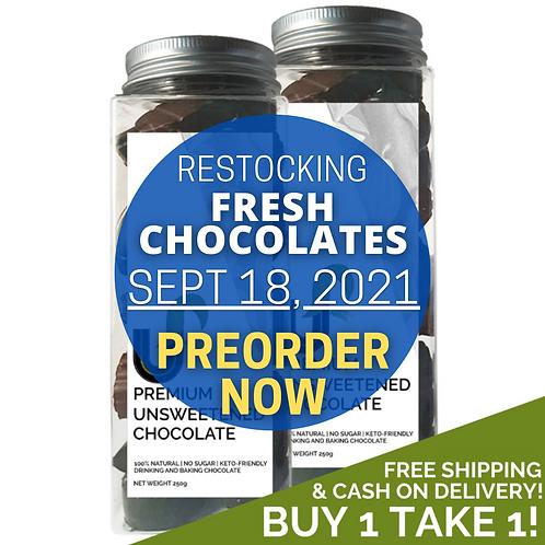 BUY 1 TAKE 1! Premium Unsweetened Chocolate 100% Pure Cacao