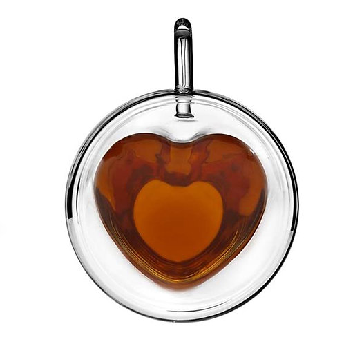 HEART 240ml - Insulated Double Wall Glass Coffee Mug