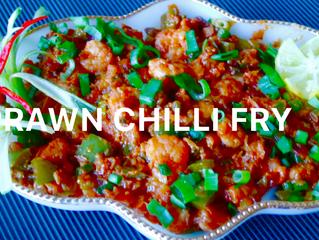 Prawn Chilli Fry | Easy Indo-Chinese Prawn Chilli Fry | Spicy Shrimp Fry Recipe