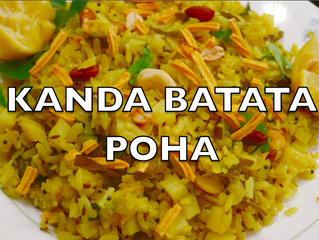 Kanda Batata Poha | Flattened Rice with Onion & Potatoes | Healthy Breakfast Recipe