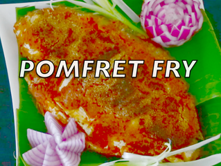 POMFRET FRY FOR NEW YEAR
