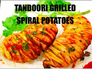 GRILLED TANDOORI POTATO SPIRALS (TORNADO)