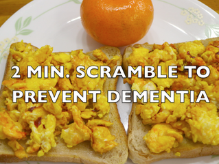 Scrambled Eggs in 2 mins | Healthy breakfast prepared to prevent & reverse Dementia