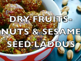 Dry Fruits-Nuts-SesameSeeds Laddus | Easy, Healthy, Dry Fruits Laddu Recipe