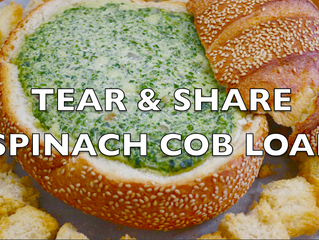 Tear & Share Spinach Cob Loaf | Starter for Festive Season | Spinach Dip Recipe