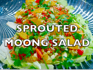 Sprouted Moong Salad | Nutritious Low Calorie Weight Loss Salad | Healthy Salad
