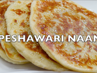Peshawari Naan | Indian Sweet Flat Bread on stovetop | Naan stuffed with dry fruits