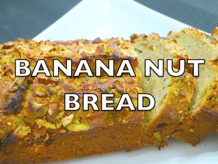 Moist & Best Banana Nut Bread Ever | Easy Homemade Banana Mix-nuts Bread Recipe