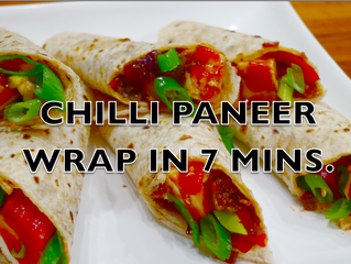 CHILLI PANEER WRAPS IN 7 MINS.