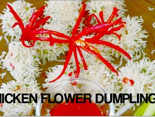 CHICKEN FLOWER DUMPLINGS FOR CHRISTMAS