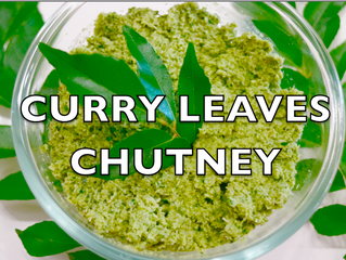 CURRY LEAVES CHUTNEY IN 5 MINS.