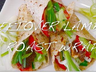 ROAST LAMB WRAPS MADE WITH LEFTOVERS