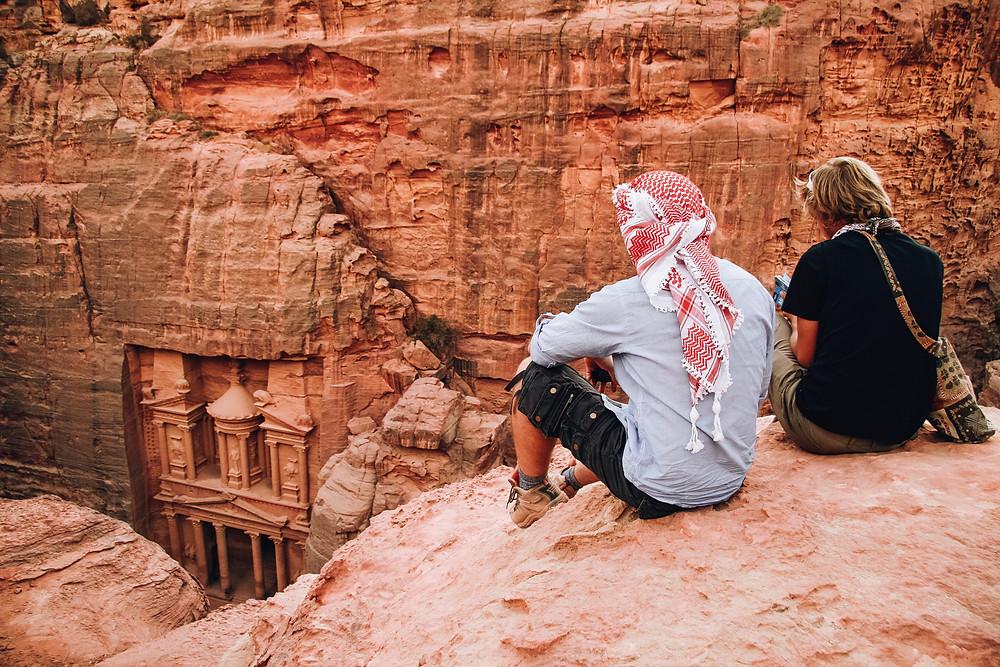 Above The Treasury at Petra