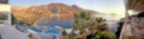 Terrace Dining. Amorgos. Greece. Sunset. Yoga Retreat
