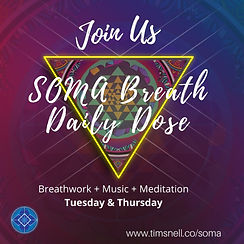 Guided Meditation for Stress & Anxiety SOMA Breathe Live Class on Zoom in London