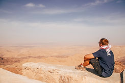 Man sitting at Jebal Haroun Petra Jordan Tim Snell