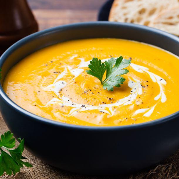 Velouté de butternut au curry