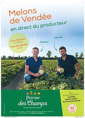 Affiche melons Panier des champs