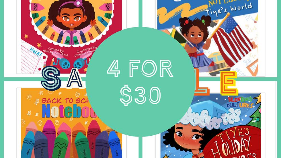 4 WorkBooks For $30