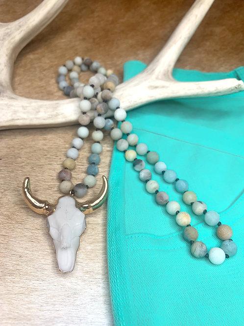 Fayette Skull Necklace