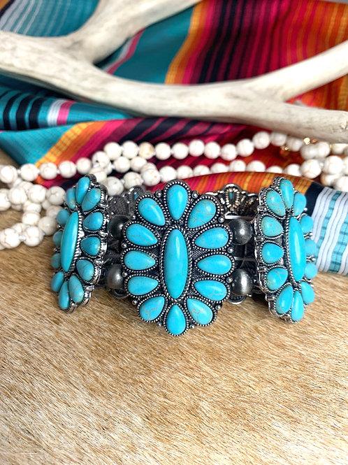 Turquoise Blossom Bracelet