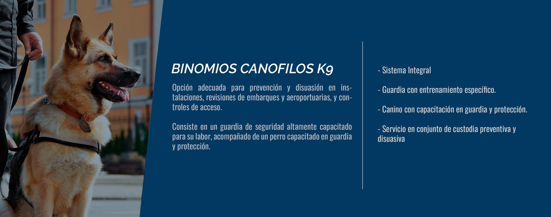 Binomios Canofilos k9