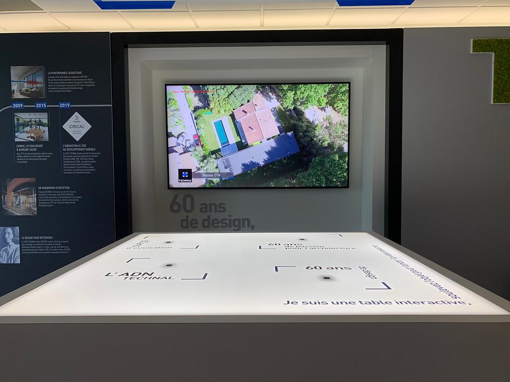 Voici l'exemple d'utilisation possible de la RFID en combinant un écran et une table