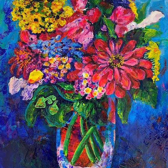Let's Paint a Bouquet Art Class