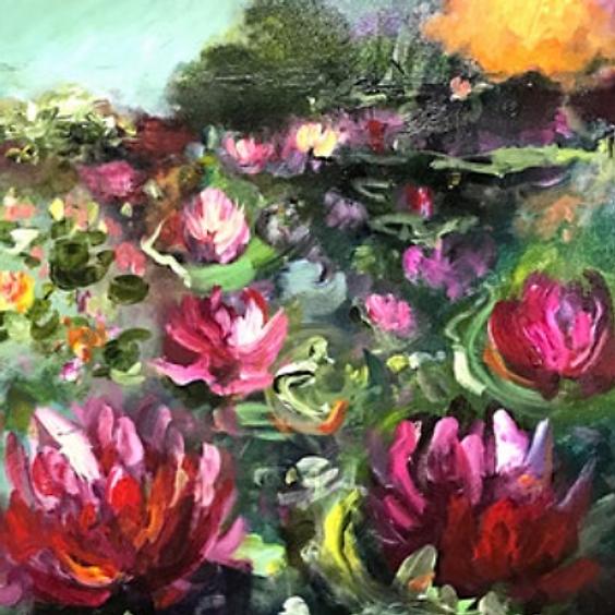Abstract Waterlillies Art Class