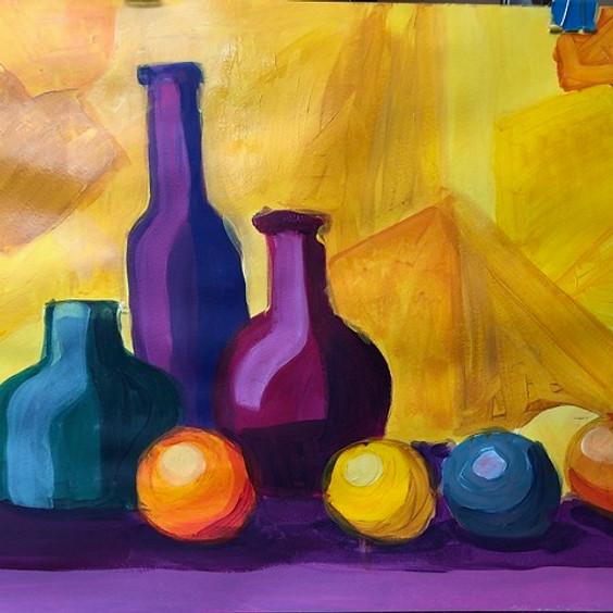 Pop Art Bottles Art Class