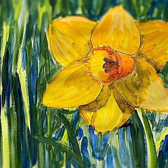 Spring Daffodil Art Class