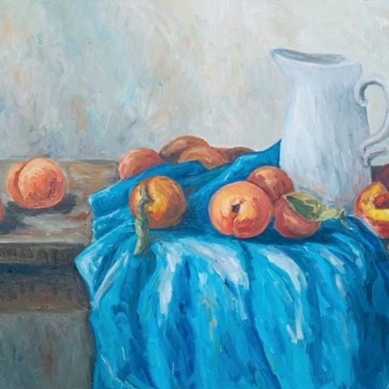Peaches in Soft Pastels Art Class