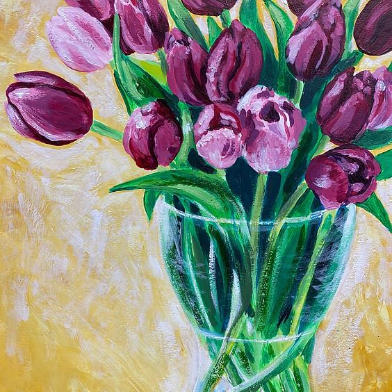 Vivacious Tulips Art Class