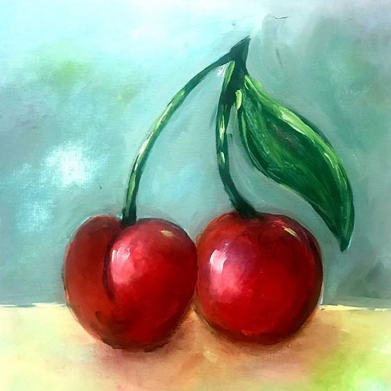 A Duo of Cherries Art Class