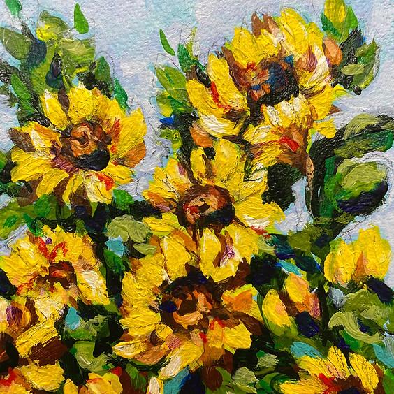 Field of Sunflowers Art Class